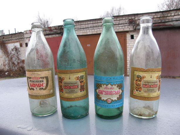 Пивные и винные бутылки СССР.