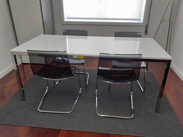 Mesa TORSBY 1,80 + 4 cadeiras TOBIAS