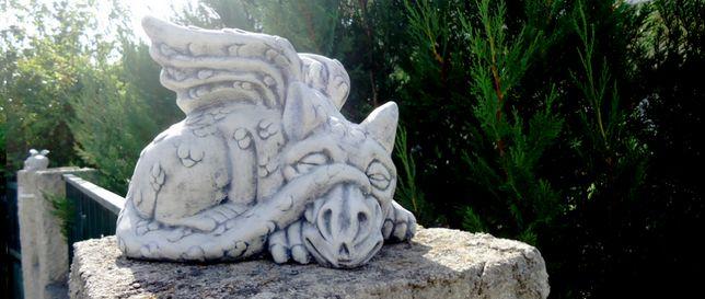 Dragão em pedra - decoração casa & jardim
