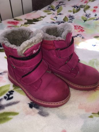 Продам зимние ботинки для девочки 26р.