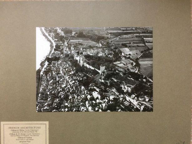 ANTYK Fotografia CHINON FRANCJA z lotu ptaka Lata 20. XX w. Oryginał!