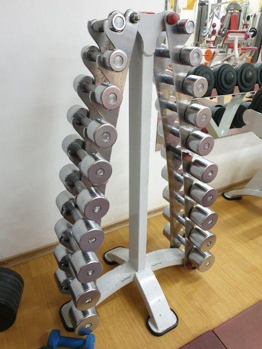 Хромированные гантели от 1 до 10 кг со стойкой, гантельный ряд Vasil Харьков - изображение 1
