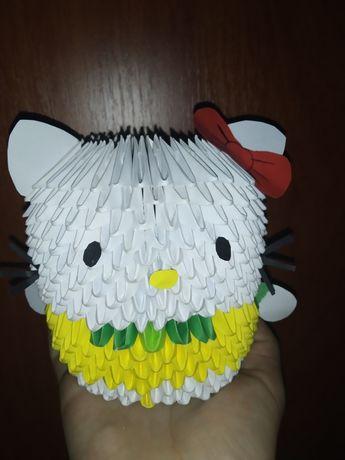 Модульное оригами Hello Kitty
