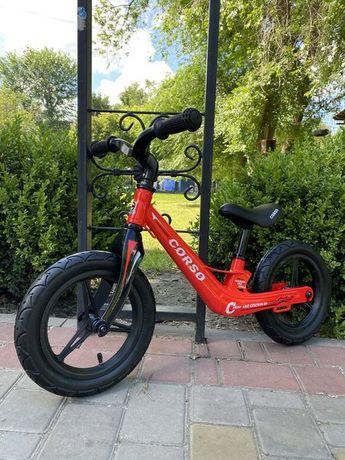 Детский Велобег беговел, надувные колёса, Легкий, Магниевая рама