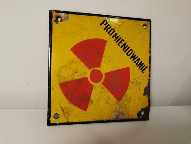 Tablica tabliczka metal Promieniowanie