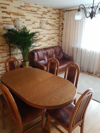 OKAZJA! STÓŁ DĘBOWY + 6 krzeseł !Inne meble dębowe!Cena do negocjacji!