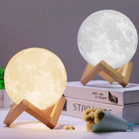 Ночник светящаяся луна Moon Lamp 13 см/ лампа ночник/для ребенка