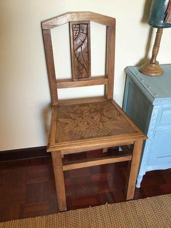 4 cadeira, retro, vintage, antigo, rustico
