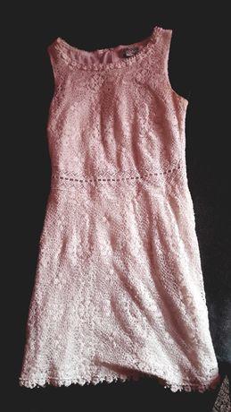 Sukienka biała koronkowa house s