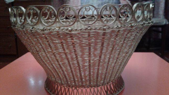 Ваза конфетница ажурная плетенная