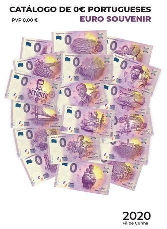 Catálogo Euro Souvenir Portugueses (notas de 0€) 2020