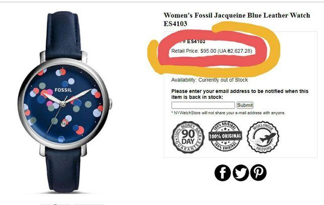 Часы женские Fossil ES4103, оригинал