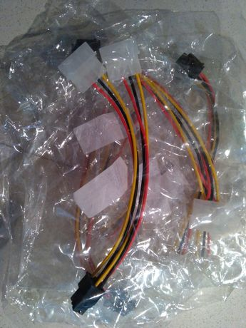 Cabo Novo 2x4Pin ATX molex para placa gráfica 6pin 8pin PCIe