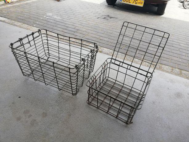 skrzynki metalowe klatki metalowe stare w stylu LOFT