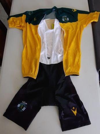 Equipamento Ciclismo Sporting - Camisola + Calções