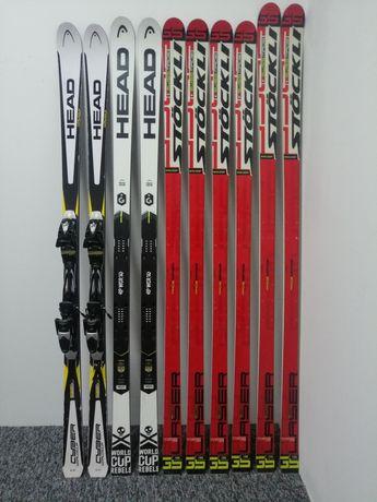 Zawodnicze NARTY GS gigantowe HEAD 188, STOCKLI LASER FIS GS 188 195cm