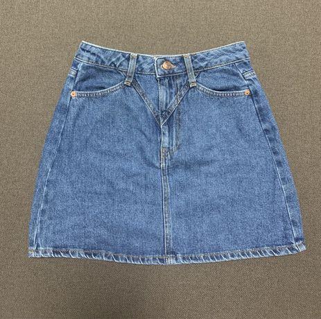 Продам джинсовую юбку, юбку в клеточку, юбку под кожу и юбку-карандаш