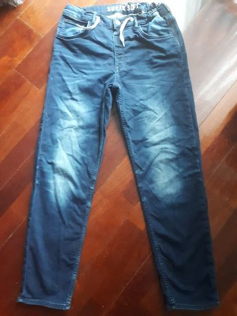 Spodnie jeansowe regulowane w pasie denim 164/170 wzrost