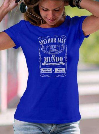 T-Shirt Melhor Mãe do Mundo - Vintage