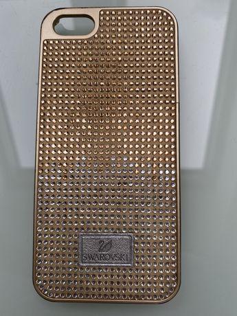Pokrowiec Etui Iphone 5/ 5s Swarovski z kryształkami Oryginał Telefon