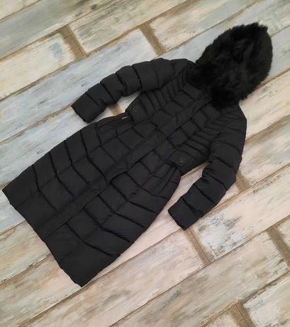Женское чёрное зимнее, демисезонное пальто