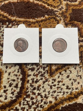 Monety destrukty 1 Cent 1909-S i 1922 UNIKATY