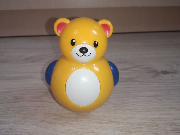Неваляшка TOLO , мишка-неваляшка Толо ,игрушка 6 месяцев
