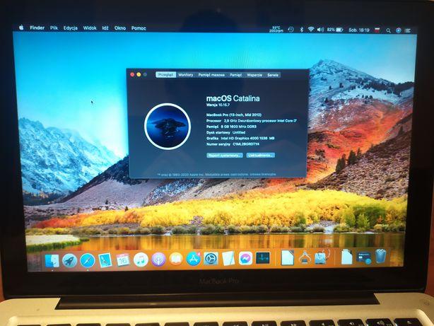 "MacBook PRO 13,3"" MID2012 /i7/Studia/OKAZJA/+Gratis"