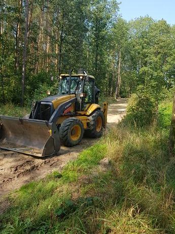 koparko ładowarka koparka piasek gruz ziemia transport wywrotka drogi