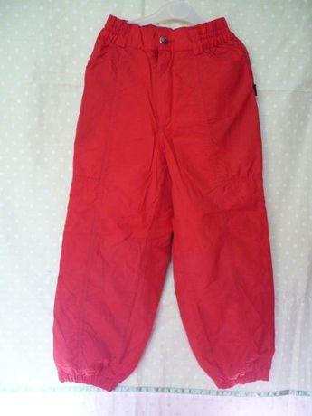 Штаны красные на девочку 7-8 лет, непромокаемые