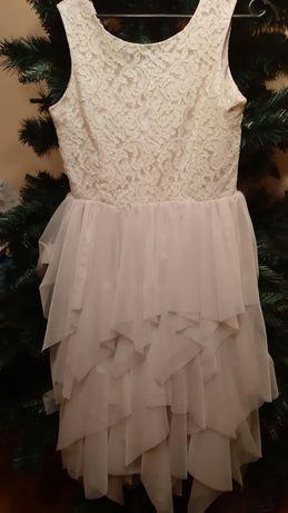 Sukienka H&M 170 koronką tiul komunia wesele uroczystość