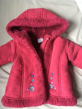 Płaszczyk kożuszek dla dziewczynki na zimę