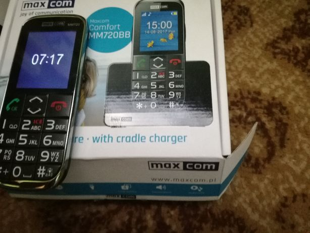 Telefon dla seniora maxcom,gwarancja