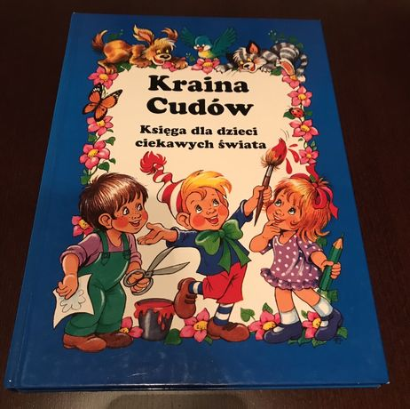 Kraina Cudów olbrzymia książka edukacyjna z łamigłówkami kalendarz