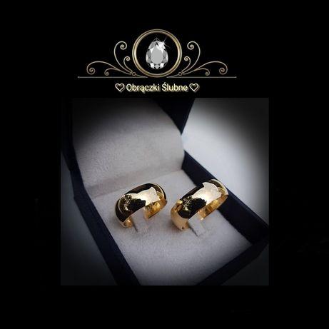 Komplet Tradycyjnych Złotych Obrączek Ślubnych