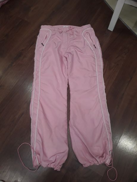 Spodnie zimowe różowe xxl damskie
