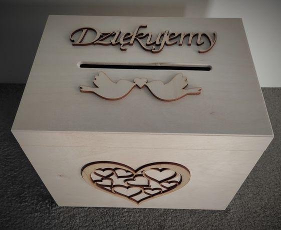 Pudełko na koperty ślubny dodatek wesele