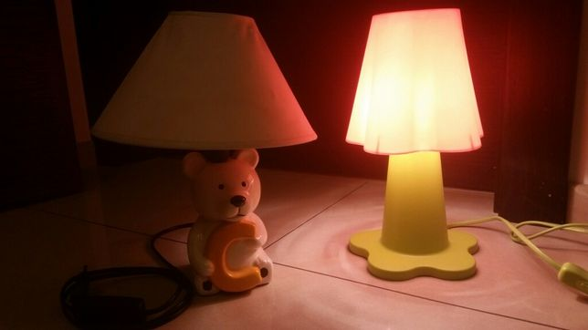 Lampka nocna dziecięca kwiatek lampka miś