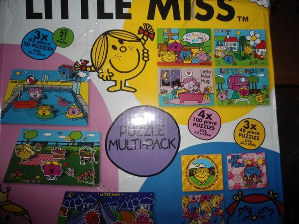 НАБОР прочные пазлы 3 Д и другие Маленькая мисс Little miss