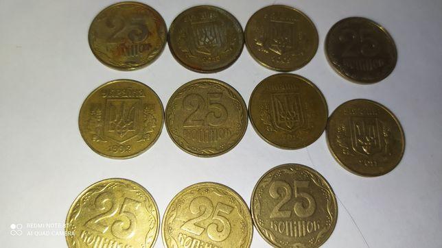 Продам монеты разное количество