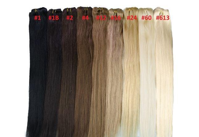 Taśmy SPINKI Komplet 40/50/60 cm Włosy SŁOWIAŃSKIE NATURALNE 100%