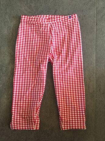 ZARA nowe legginsy 3/4 w krateczkę 9-10 lat