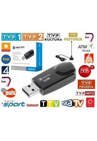 Tuner dekoder DVB-T hdtv usb + Antena