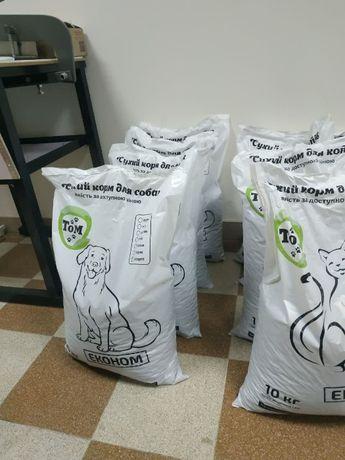 ТМ ТОМ власне виробництво Сухий корм для котів і собак в Україні