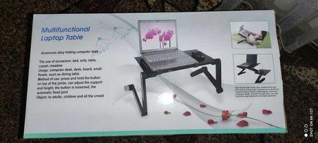 Столик для ноутбука с вентилятором складной