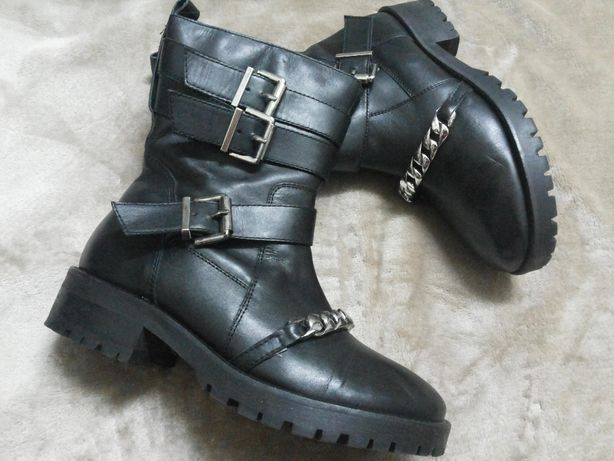 Сапоги ,ботинки кожаные жен.RIVER ISLAND .CLARKS Индии
