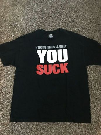 WWE Kurt Angle From This Angle U Suck shirt