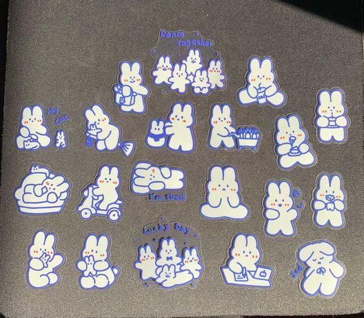 Rabbit Stickers Pack (20 autocolantes)