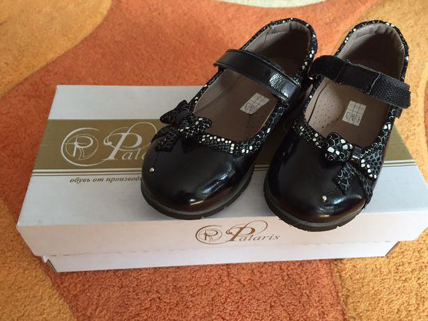 Шкіряні дитячі туфлі 31-го розміру для дівчинки
