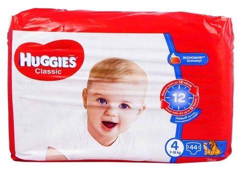 Huggies classic 4 размер 44 штуки Подгузники Хаггис
